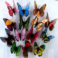 Wholesale 3D Simulation Butterfly Fridge Magnets Refrigerator Magnet Sticker Home Decor