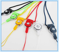 Wholesale Detachable Neck Strap Lanyard Charming Rotatable Strap for Cell phone MP3 MP4 Multi color