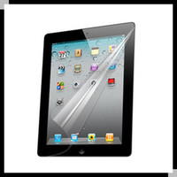 Wholesale lcd guard film clear screen protector for ipad ipad2 ipad3 no retail package