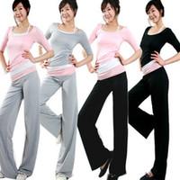 Wholesale women yoga pants vest shirts suits ladies fitness wear half sleeve sports wear Yoga wear three piece