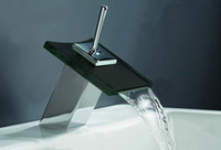 Waterfall Brass Brass Square Waterfall Glass Mixer Tap Faucet Tap Kitchen Basin Bathroom Vanity Sink