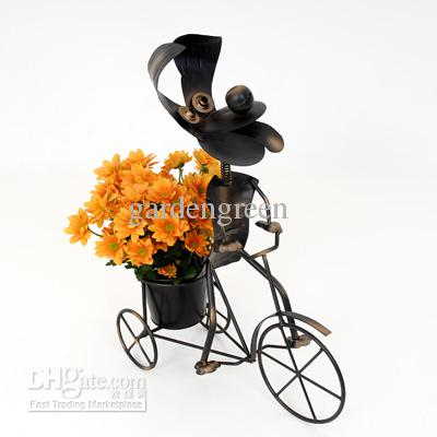 2017 Dog On Trike Planters Metal Garden Ornaments Animal Planters Pots From Gardengreen