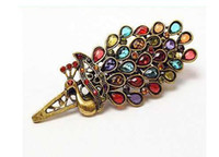 Women's wholesale hair barrettes - Retro Style Crystal Hair Accessories Peacock Phoenix Barrette Hair Clips