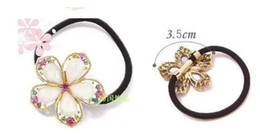 Wholesale Rhinestone Crystal Flower Pony Tail Holder Hair Accessory