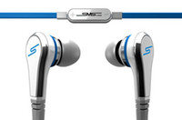 Wholesale SMS Audio Street By Cent Wired In ear Headphones With Microphone and Control Talk White Black pc