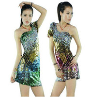 5 Colors Stage Clothing Latin dance Costume Full Sequins one...