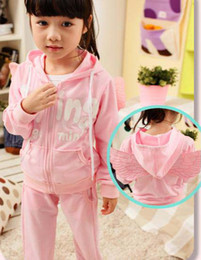 Wholesale 2012 Korean angel wings boy s girl s children s clothing suit set