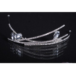 Rhinestone crystal simple elegant wedding Bridal headband hair accessory Sparkle Pageant Prom Party Crystal tiara 2016