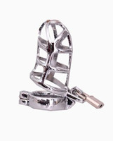 Male   Free Shipping Male Stainless Steel Bondage prevent masturbation,Chastity device hot