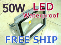 Wholesale 50W LED Flood lights High Power White Waterproof Outdoor projection Lamp lm AC85 V degree