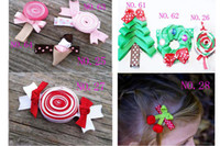 Wholesale girl animals hairs clip hair bows Hair Accessories girl hair bow grosgrain ribbon bows girls K19