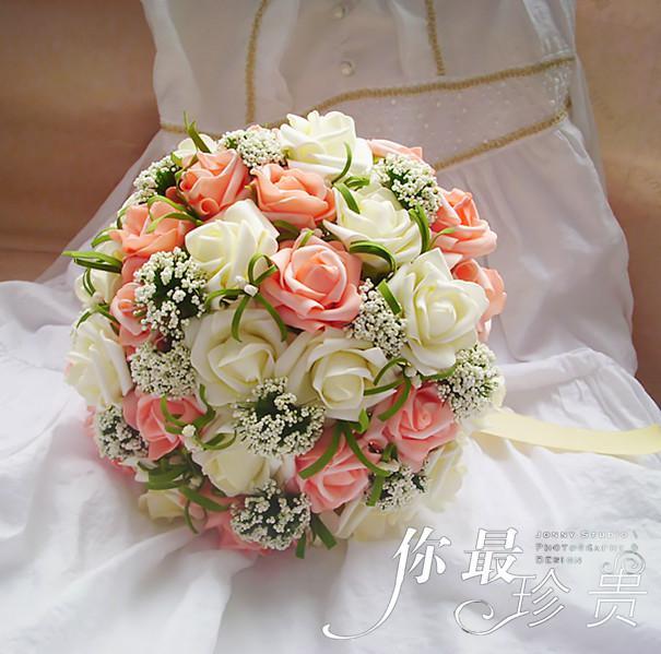 wedding bouquet artificial rose flowers bridal throw bouquet erwsq1 bridal bouquets gift. Black Bedroom Furniture Sets. Home Design Ideas