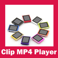 Wholesale 2012 New Clip MP3 MP4 Player with Micro SD Card Slot FM Radio Voice Recorder Languages colors