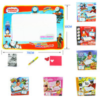 Wholesale 6 Styles Large AQUA Draw Paint Drawing Mat Dooble Train Cars Toys Magic Water Pen Board Stamp toys