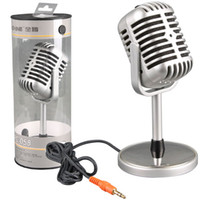 Wholesale Mini Microphone Quansheng PC mm Vintage Retro Studio Vocal Record Mic PC Laptop