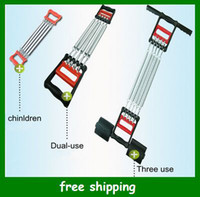 Wholesale Hot Adjustable child chest developer Men two use Chest expander three use Wall pulley