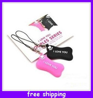 pink black white   New Cheap wholesale couple lovers mobile phone pendant Accessories dogs bone ( a pair ) good quality