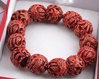 Wholesale Restore ancient ways bead bracelet red sandalwood adorn articleJW003