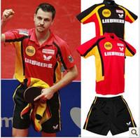 Wholesale Men s table tennis sportswear shirt shorts ping pong shirt B008L