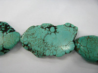 Wholesale gergous nugget freeform slab flat blue green multicolor turquoise gemstone jewelry bead mm
