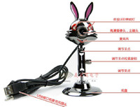 Wholesale metal rabbit MP HD webcam mic no need drive hot selling