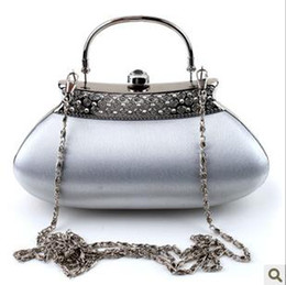 Wholesale 2012 new noble white Rhinestone Bridal Clutch