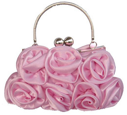 Wholesale Hot Sale Ladies Fashion Purse Flower Sexy Chain Gorgeous Wedding Bridal Hand Bags A32