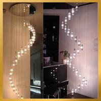 K9 Crystal Rod Spiral Ceiling Light Modern Creative LED Loft...