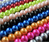 Wholesale 4mm mm mm mm mm Round Pearl Spacer Bead full range of colours one Or Mixed R301