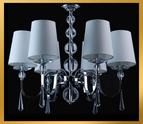6 Light Crystal Chandelier: 6 Light Crystal Central Ball Chandelier Light Pendant Lamp Ceiling With  Shade Spiral Chandelier Chandelier For Nursery From Goodsoft, $252.75|  Dhgate.Com,Lighting
