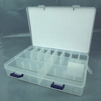 Wholesale box New Plastic Buckle Case Styled Fishing Tool Tackle Box Delicate Utility Boxes HZ12