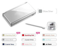 Wholesale 10pcs Silver Color Free via EMS game console for GBA ds games NDS System mix color Brand New