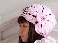 Wholesale Girls Cotton Cap Baby Lace Hats babies Handmade Headwear Kids Fashion Knitting Autumn Hat Soft Lace Caps BH