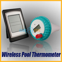 Wholesale Wireless Digital LCD Swimming Pool Bath Spa Temperature Thermometer Transmitter Receiver