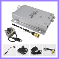 Wireless spy camera kit   Wireless Mini pinhole micro CCTV security surveillance A V audio 6 IR LED RC spy Camera receiver kit