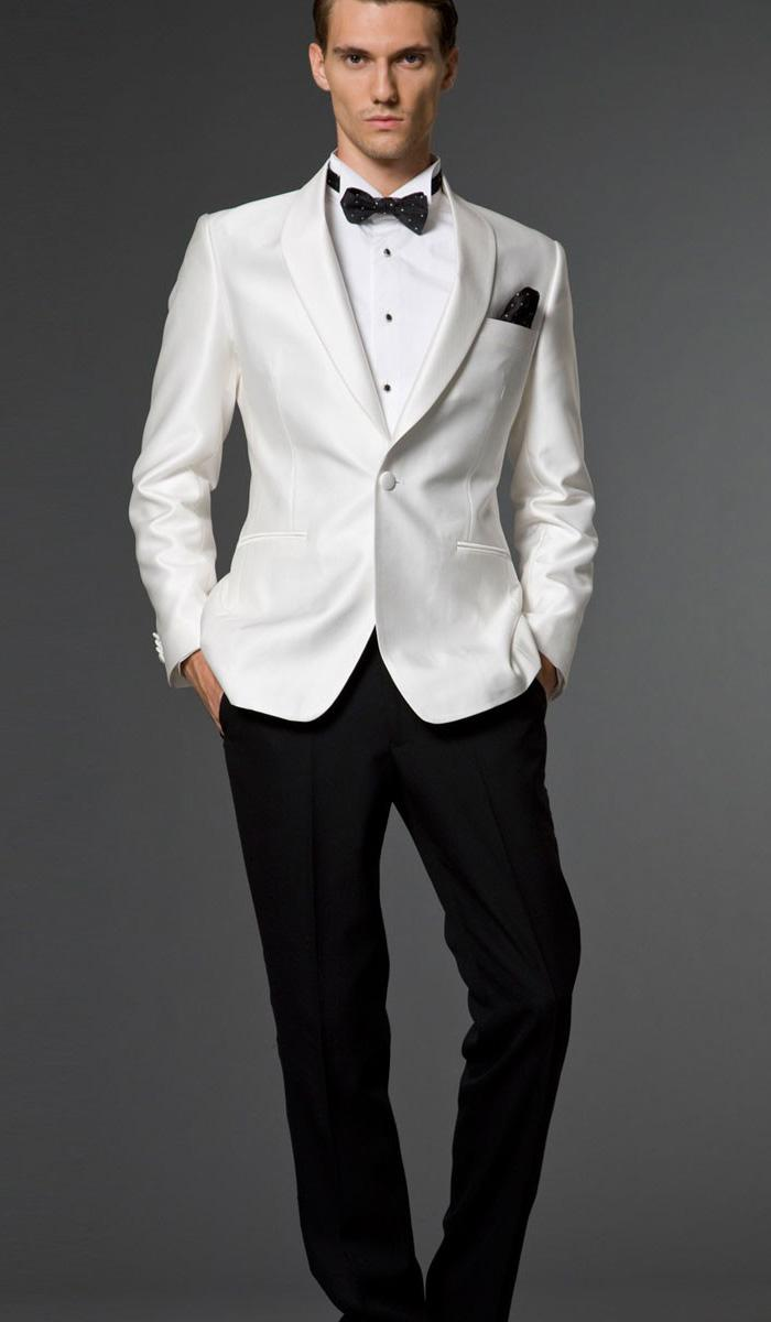 New Stylish Groom Tuxedos Men's Wedding Dress Suits Prom Clothing ...