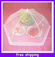 Wholesale New Fashion Lace folding gauze mask folding nets fruit food covers dust fly prevention