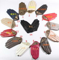Wholesale New Sex and the City sheepskin glove Half palm fingers true leather gloves pairs