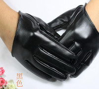 Wholesale colorful SEX AND THE CITY half palm leather gloves fashion finger PU leather glove pairs