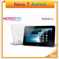 Wholesale Ainol novo Aurora GB Android Capacitive screen Tablet PC White Color quot IPS Camera GB DDR3