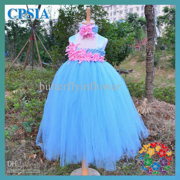 Baby Blue Tutu Dress Blue Tulle Long Tutu Dress