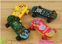 Wholesale Cartoon Skateboard Eraser sets Office amp Study Rubber Eraser Gifts kids Gift