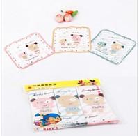 Wholesale 5pcs Baby cotton cartoon handkerchief sweat pat pat milk saliva towel outfit