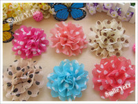 Wholesale 240pcs Baby Girl Hair Bows Children s Satin Flower Alloy Clips Kid Hair Accessories Chiffon Ribbon