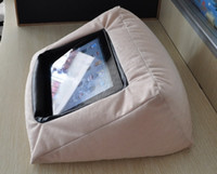 Wholesale Cotton throw pillow Fashion handbags magic protect pad for ipad2 New style ipad3 Tablet PC Stand Bag