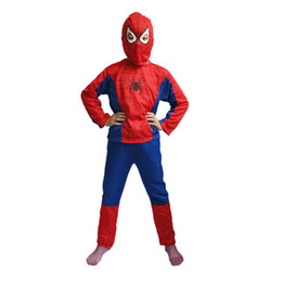 Wholesale 50 New Deluxe Toddler Spiderman Costume Child Spider Man Costumes Halloween S XL