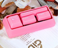 Wholesale Keyboard Office Stationery Set Stapler Punch Keyboard Brush Paper Clips Magnet Novlety Gift