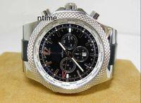 Cheap Luxury Mens Watch Motors 6.75 SS Black Dial GMT A47632 Rubber strap Wrist Mens Watch Men's Watches