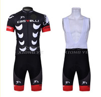 Wholesale China CASTELLI Short Sleeve Cycling Jerseys BIB Shorts Set Cycling Wear Clothing