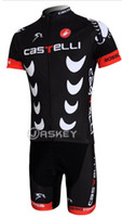 Wholesale China CASTELLI team Short Sleeve Cycling Jerseys Shorts Set Cycling Wear Clothing